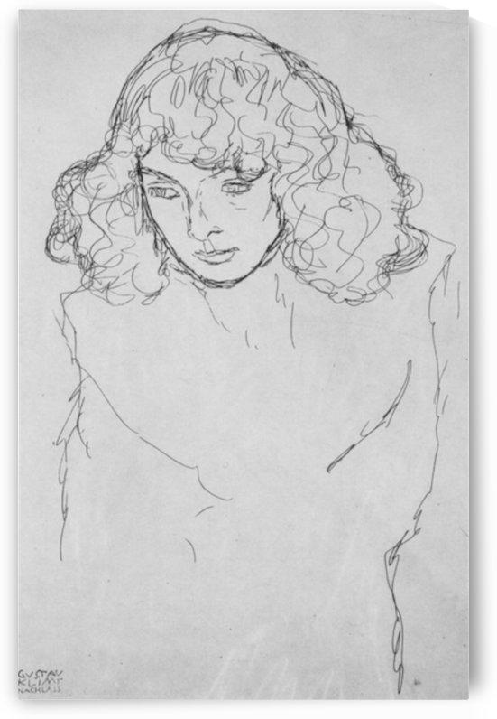 Girls head by Klimt by Klimt