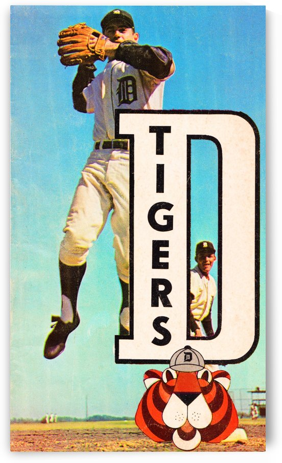 retro remix detroit tigers poster by Row One Brand