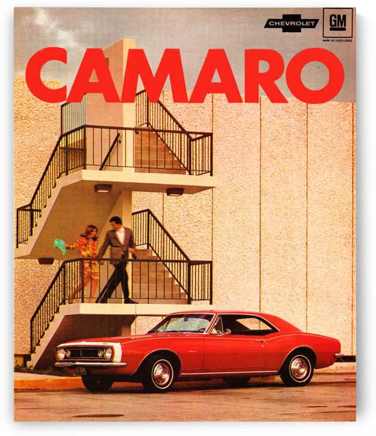 Retro Remix Camaro Poster by Row One Brand