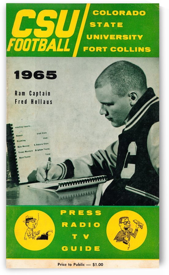 1965 colorado state football fred hollaus by Row One Brand