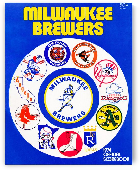 1974 Milwaukee Brewers Scorebook by Row One Brand
