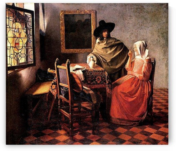 Glass of wine by Vermeer by Vermeer