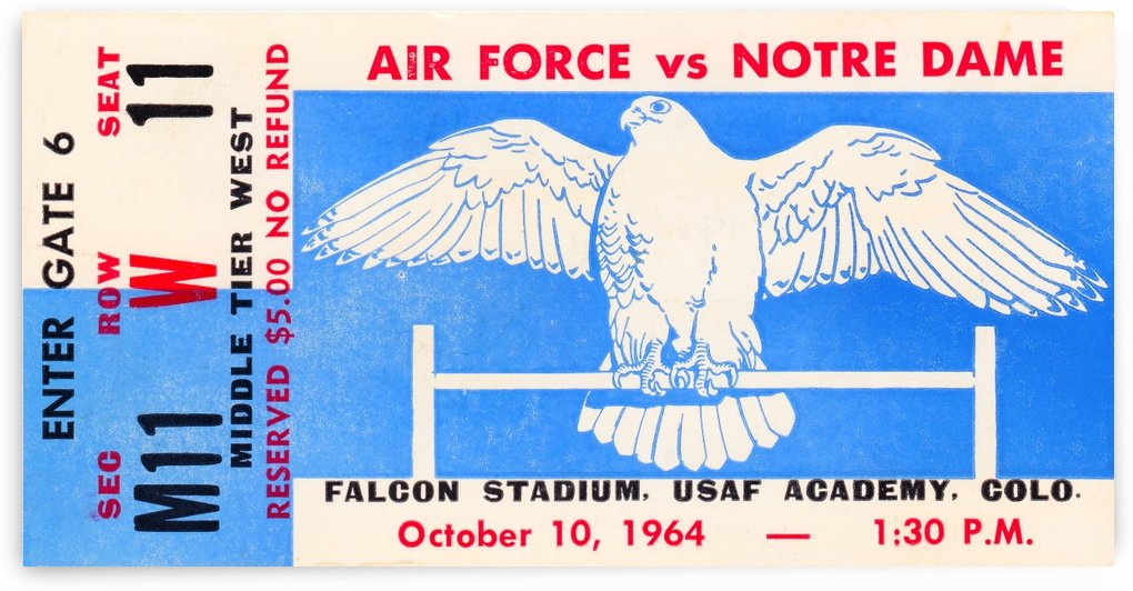 1964 Air Force vs. Notre Dame by Row One Brand