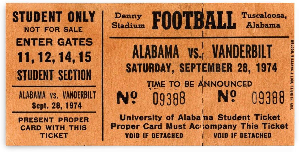 1974 Alabama Student  by Row One Brand