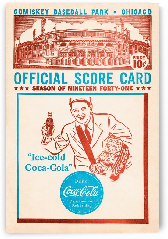 chicago white sox score card by Row One Brand