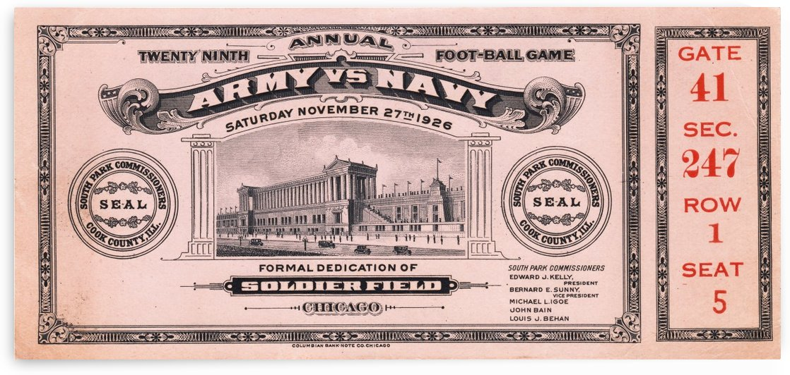 1926 Army vs. Navy by Row One Brand
