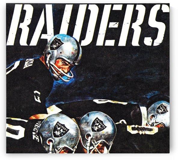 artist merv corning raiders football art by Row One Brand