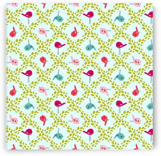 birds pattern background by Shamudy