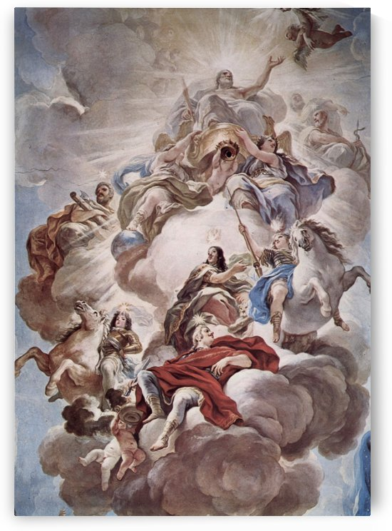 Triumph of the Medici in the clouds of Mount Olympus by Luca Giordano