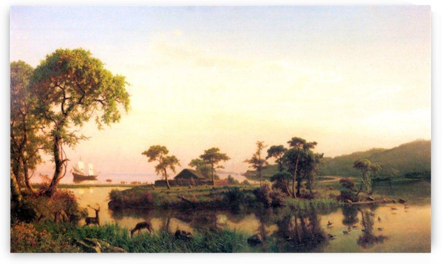 Gosnold on Cuttyhunk, 1602 by Bierstadt by Bierstadt