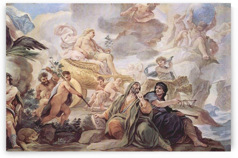 Baccus mit seinem Gefolge der Faunen und Satyren by Luca Giordano