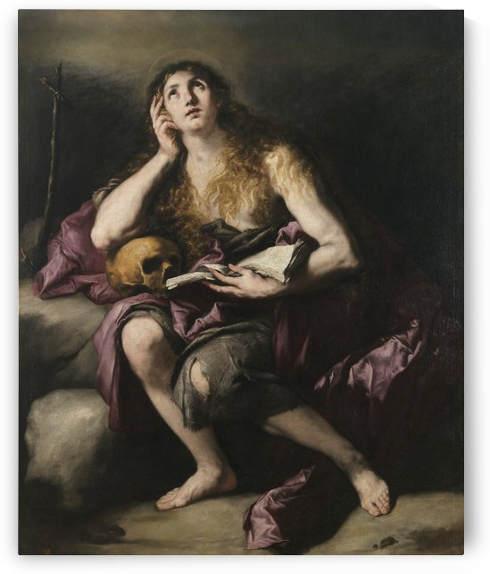 La Magdalena penitente by Luca Giordano