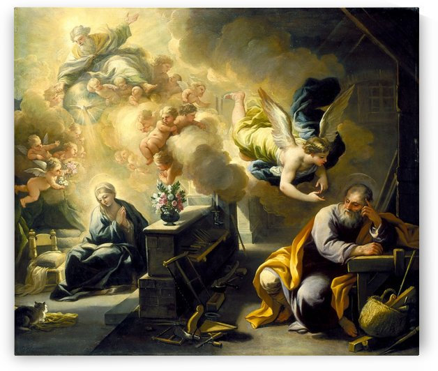 The Dream of St Joseph by Luca Giordano