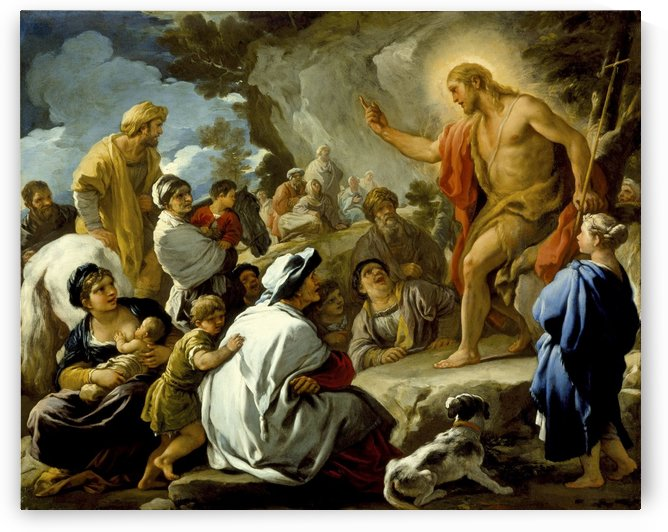 St. John the Baptist preaching by Luca Giordano