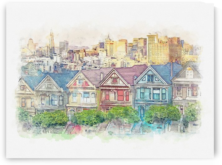 Painted Ladies - San Francisco CA by Apolo Prints