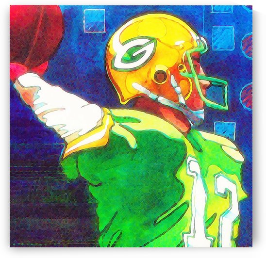green bay packers art by Row One Brand