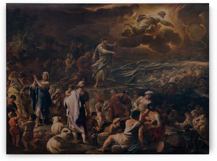 Il passaggio del Mar Rosso by Luca Giordano