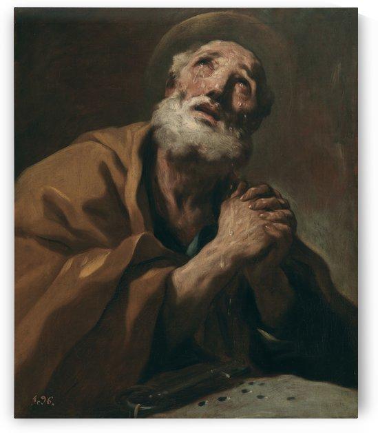 S. Pietro pentito in lacrime by Luca Giordano
