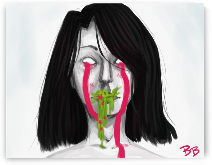 bleeding from the mouth by Benita B