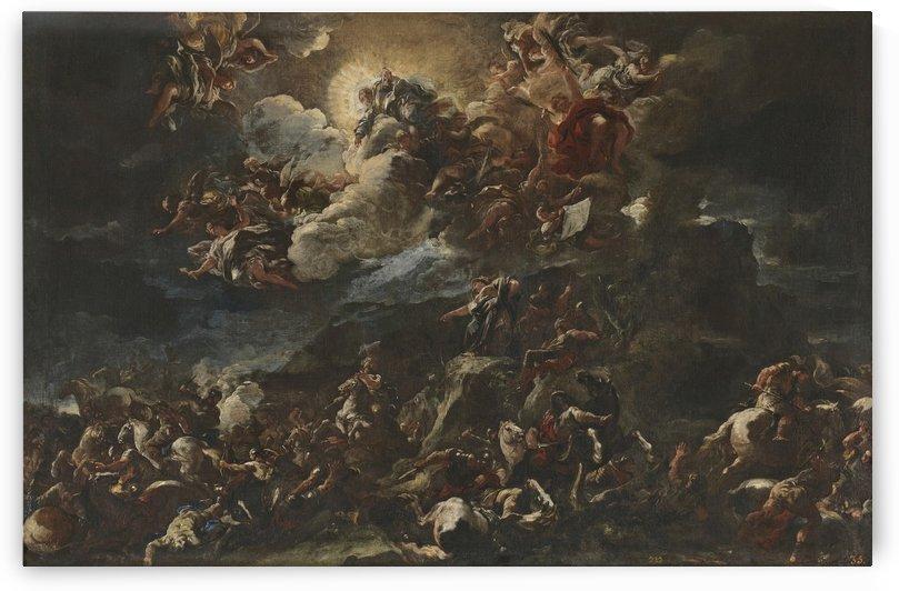 Victoria de los israelitas y cantico de Debora by Luca Giordano