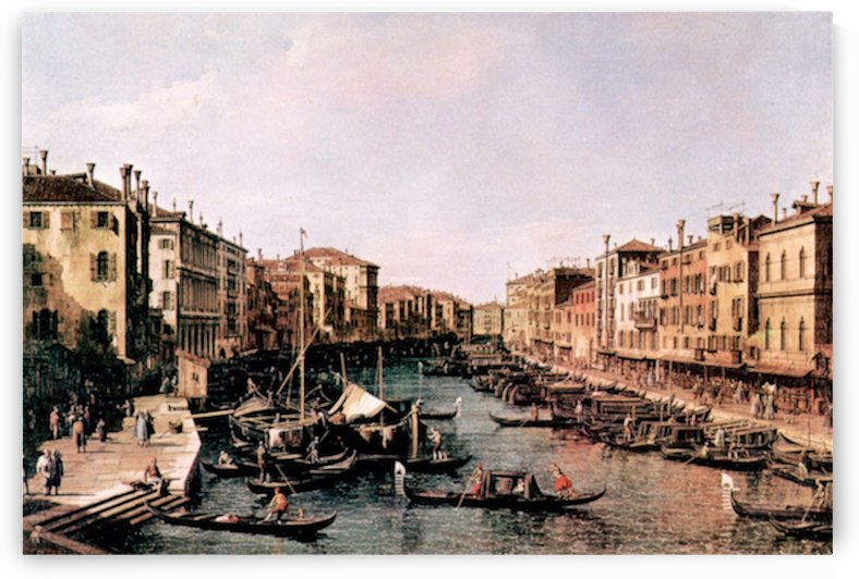 Grand Canal -2- by Canaletto by Canaletto
