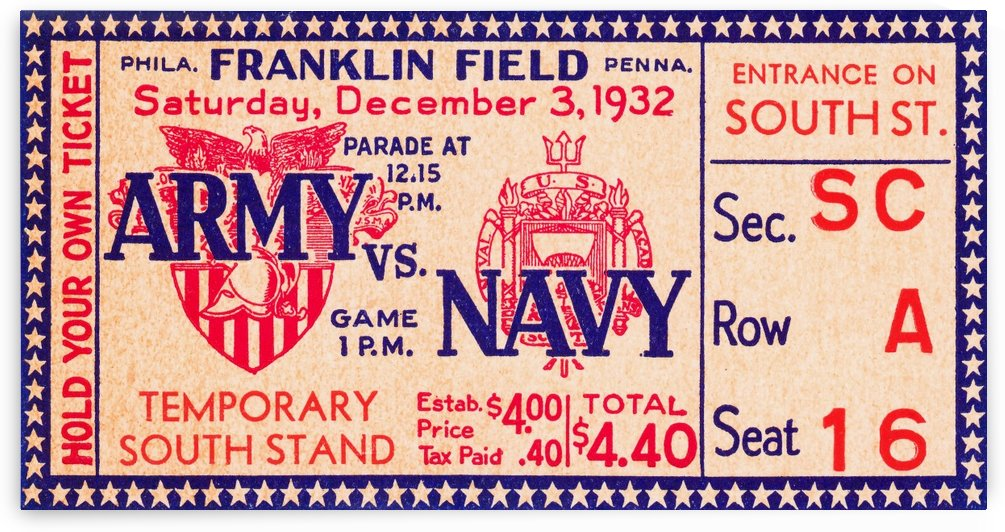 1932 Army vs. Navy by Row One Brand