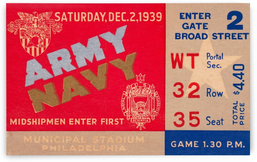 1939 Army vs. Navy by Row One Brand
