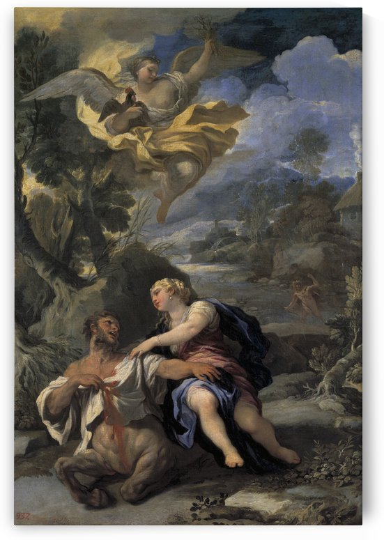 Muerte del centauro Neso by Luca Giordano