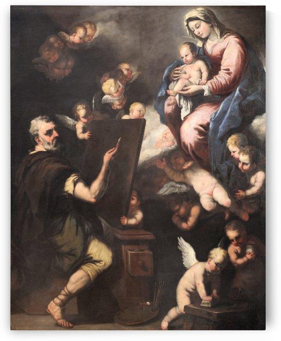 Saint Luke Portraying the Virgin by Luca Giordano