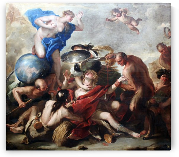 Youth tempted by the Vices by Luca Giordano