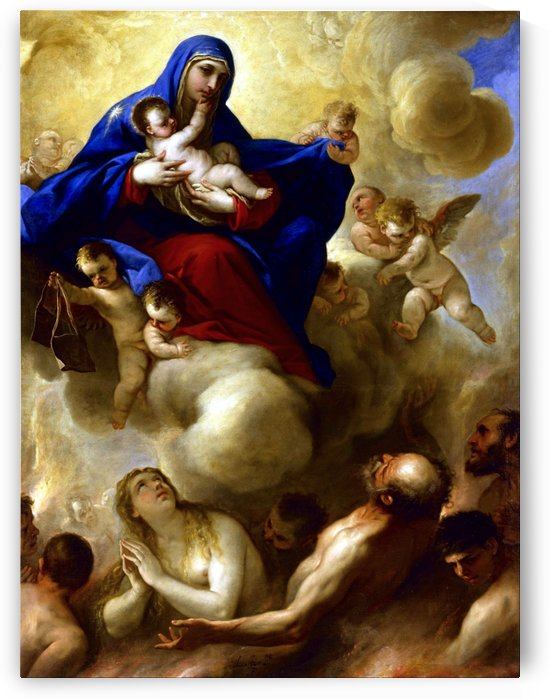 Madonna and Child with Souls in Purgatory by Luca Giordano