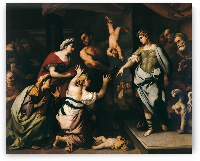 The judgment of Solomon by Luca Giordano