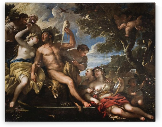 Hercules and Omphale by Luca Giordano