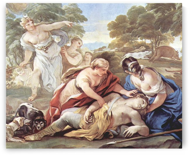The Death of Adonis by Luca Giordano