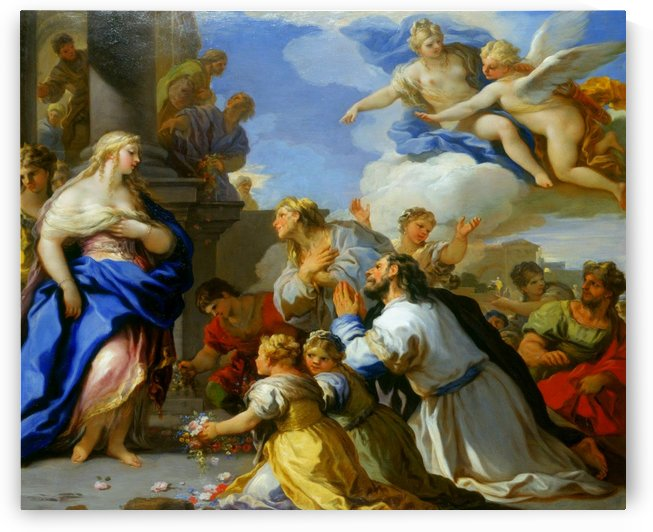 Psyche Honoured by the People by Luca Giordano
