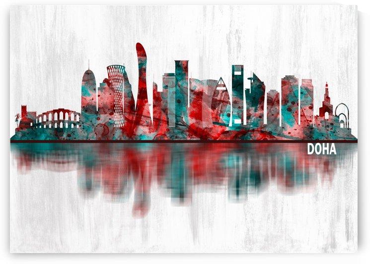 Doha Qatar Skyline by Towseef Dar