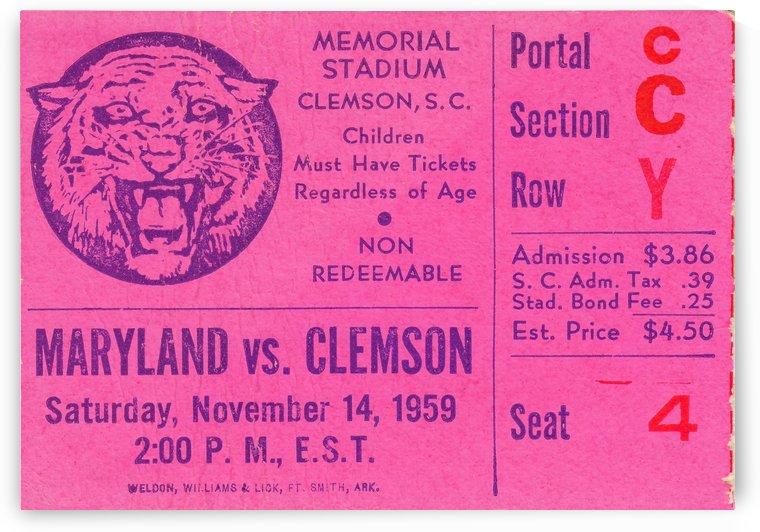 1959_College_Football_Clemson vs. Maryland_Memorial Stadium_Row Y by Row One Brand