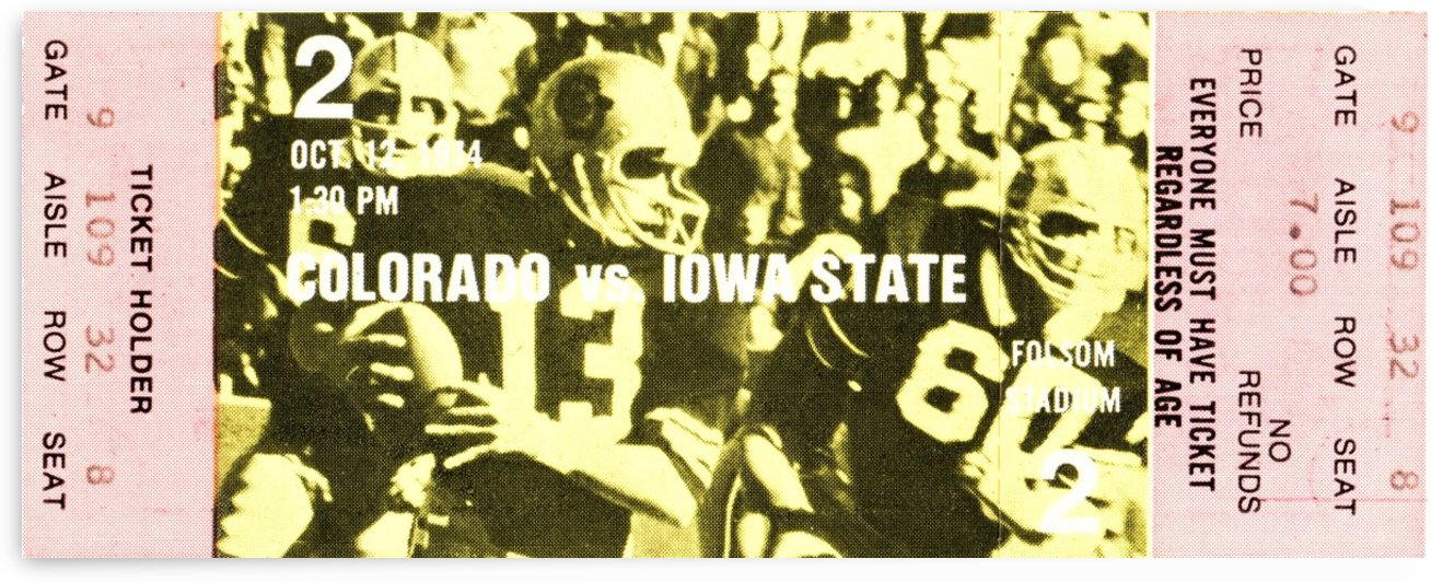 1974 Iowa State vs. Colorado by Row One Brand