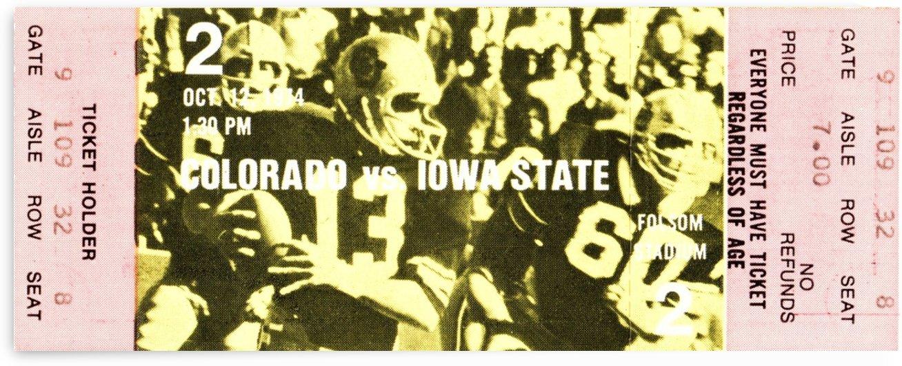 1974 Iowa State vs. Colorado by Row One Brand