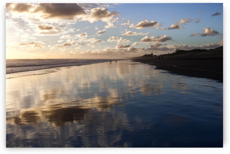 Muriwai beach reflections by Slava Eremin