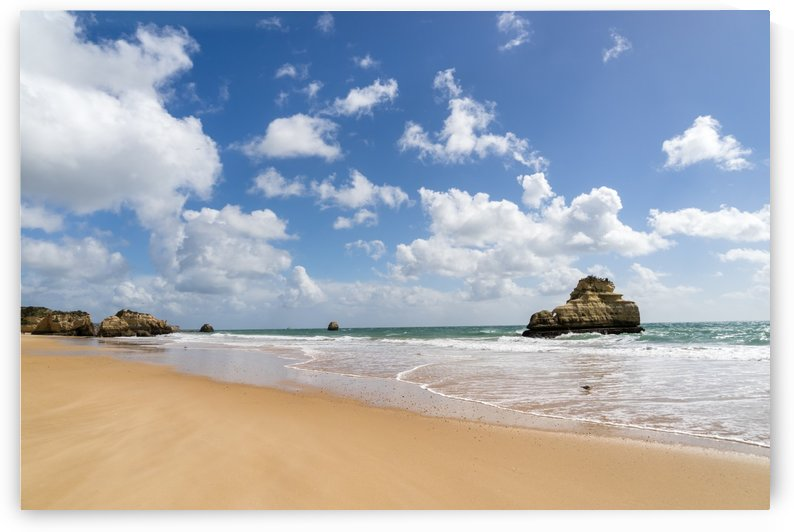 Gold Coast Algarve Classics - Smooth Sand Seascape with Seastacks by GeorgiaM