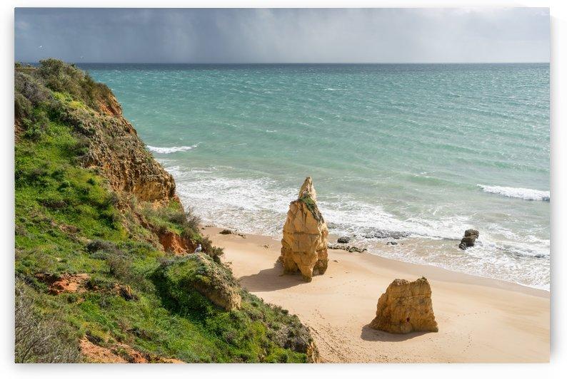 Approaching Storm - Rocky Coast at Praia da Rocha in Algarve Southern Portugal by GeorgiaM