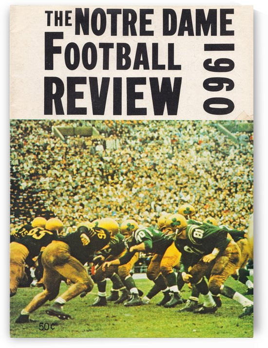 1960 notre dame football by Row One Brand