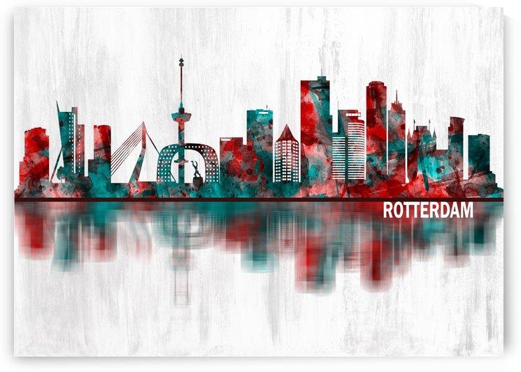 Rotterdam Netherlands Skyline by Towseef Dar