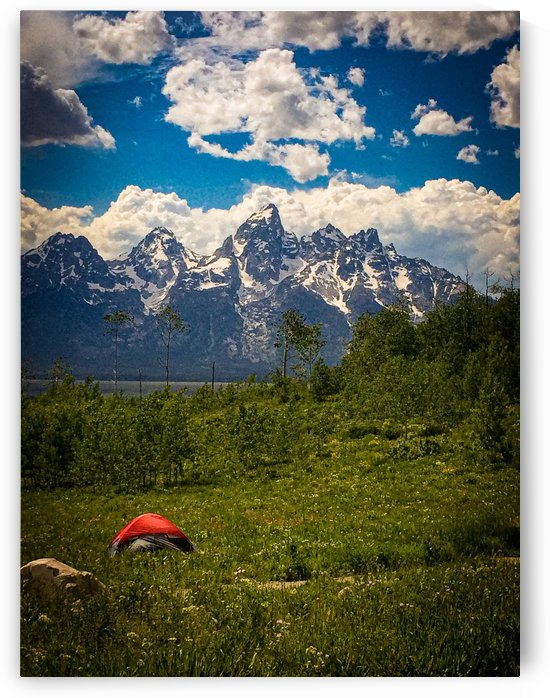 Camping by the Tetons by Justgoexplore
