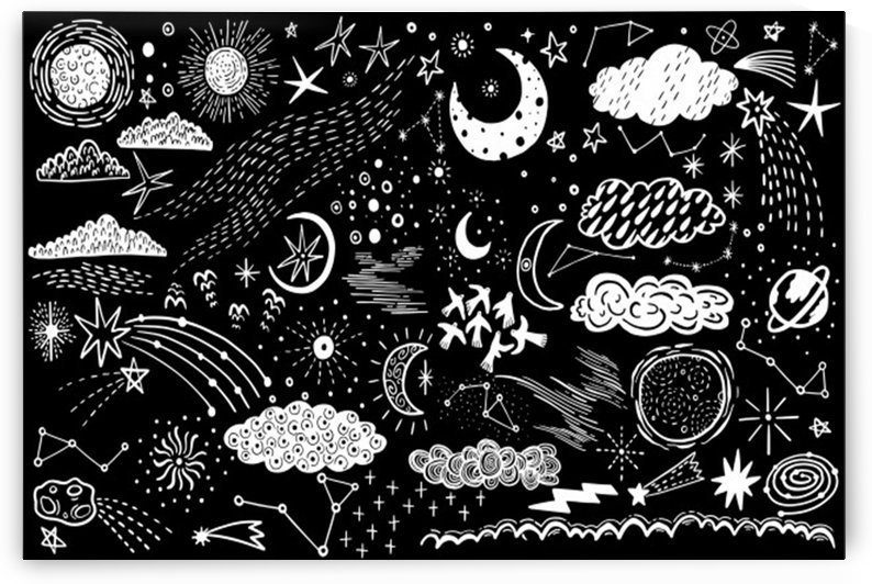 vector set sketch drawn with space by Shamudy