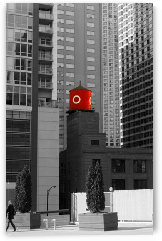 Red Water Tower by Mark A  Harris
