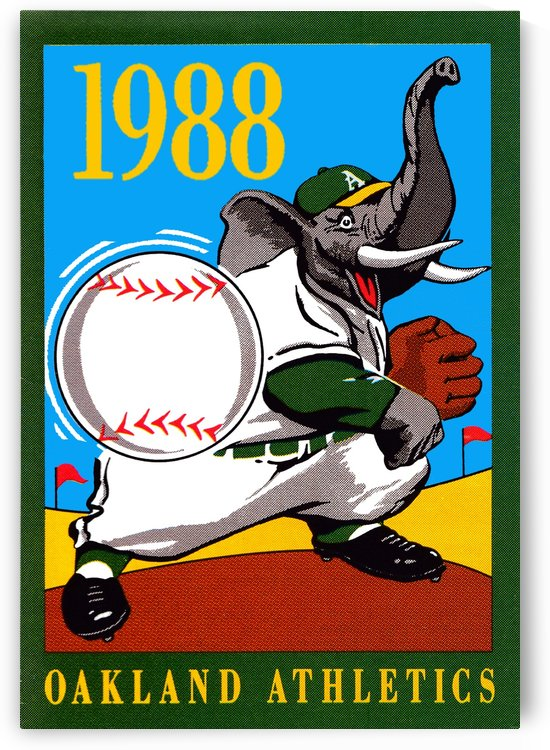 1988 Oakland As Retro Poster by Row One Brand