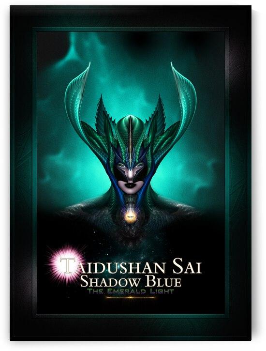 Taidushan Sai Shadow Blue The Emerald Light Fractal Art Portrait Composition by xzendor7