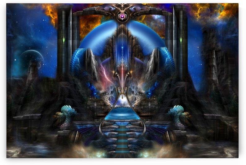 Light Of Ancient Wisdom Fantasy Fractal Art Composition by xzendor7